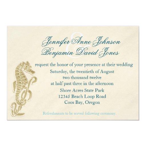 Invitación del boda del Seahorse