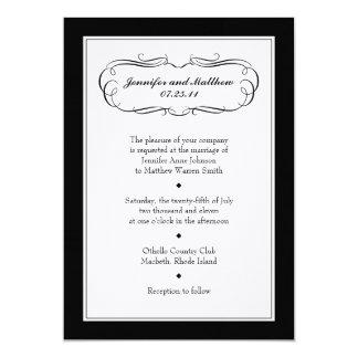 Invitación del boda del smoking en el papel de