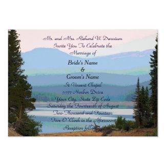 Invitación del boda del sueño del lago mountain