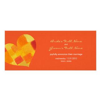 Invitación del boda del tango del verano