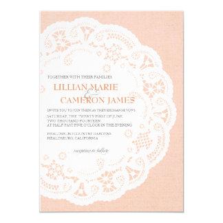 Invitación del boda del tapetito del cordón del invitación 12,7 x 17,8 cm