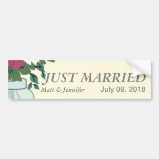 Invitación del boda del tarro de albañil - rubio e pegatina para auto