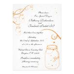 Invitación del boda del tarro y de la luciérnaga d