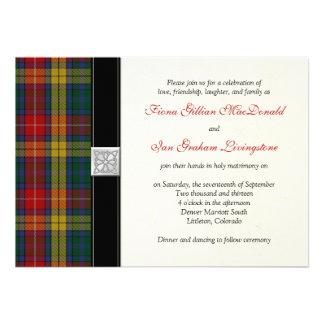 Invitación del boda del tartán de Buchanan