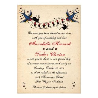 Invitación del boda del tatuaje del Rockabilly del