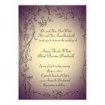 Invitación del boda del tinte de la berenjena y invitación 12,7 x 17,8 cm