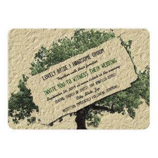 Invitación del boda del verde del país del vintage invitación 12,7 x 17,8 cm