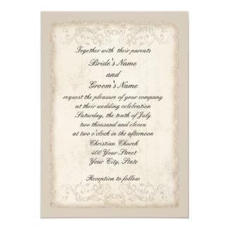 Invitación del boda del Victorian