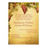 Invitación del boda del viñedo