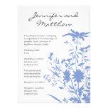 Invitación del boda del Wildflower 5.5x7.5