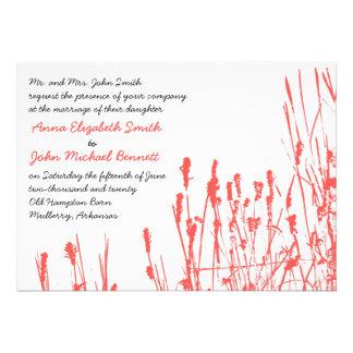 Invitación del boda del Wildflower - caqui