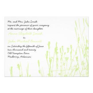 Invitación del boda del Wildflower - verde