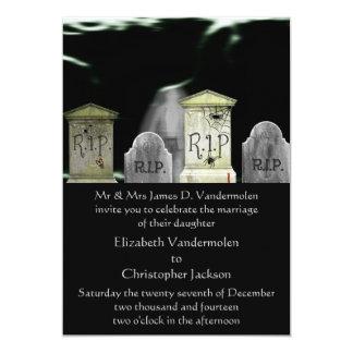 Invitación del boda del zombi o del fantasma