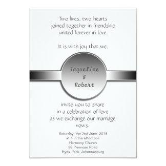Invitación del boda - disco y cinta de plata