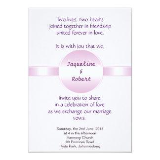 Invitación del boda - disco y cinta rosados
