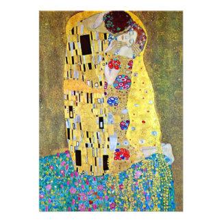 Invitación del boda El beso de Gustavo Klimt