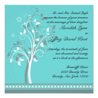 Invitación del boda en turquesa