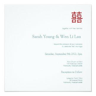 Invitación del boda - felicidad doble china