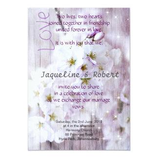 Invitación del boda - flores de cerezo