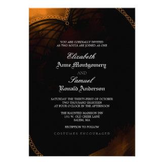 Invitación del boda - gótico elegante de Halloween