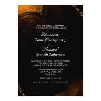 Invitación del boda - gótico elegante de Halloween Invitación 12,7 X 17,8 Cm
