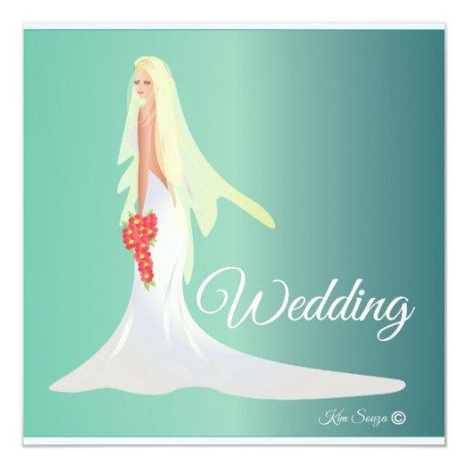 Invitación del boda invitación 13,3 cm x 13,3cm