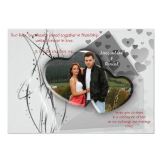 Invitación del boda - par del marco de la foto del