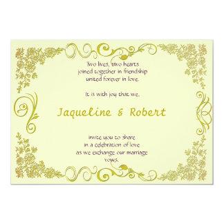 Invitación del boda - remolino floral en pálido -