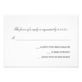 Invitación del boda - RSVP el básico