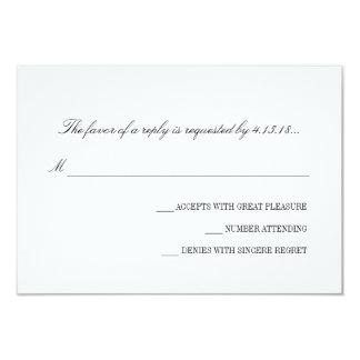 Invitación del boda - RSVP el | básico Invitación 8,9 X 12,7 Cm
