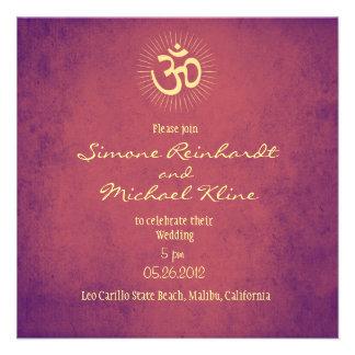 Invitación del boda símbolo de OM