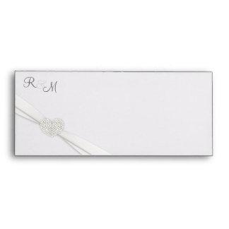 Invitación del boda y sobres de Photocard