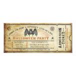 Invitación del boleto de Halloween del palo del