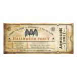 Invitación del boleto de Halloween del palo del vi