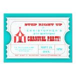 Invitación del boleto de la fiesta de cumpleaños