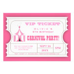 Invitación del boleto de la fiesta de cumpleaños d