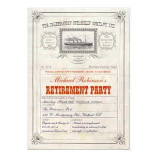 Invitación del boleto de la travesía del buque de invitación 12,7 x 17,8 cm