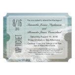 Invitación del boleto del boda del destino de la p