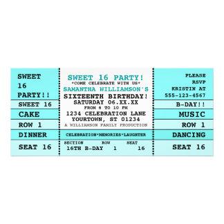 Invitación del boleto del concierto del dulce 16