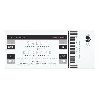 Invitación del boleto del concierto en blanco y