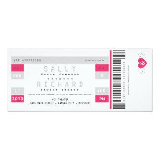 Invitación del boleto del concierto en rosas