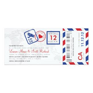 Invitación del boleto del correo aéreo del