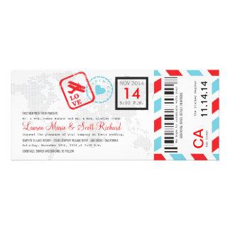 Invitación del boleto del correo aéreo del documen