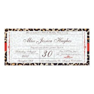 Invitación del boleto del damasco del dulce