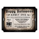 Invitación del boleto del feliz Halloween