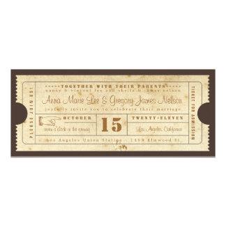 Invitación del boleto del vintage