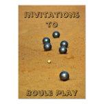 Invitación del Boule Invitación 12,7 X 17,8 Cm