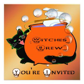 Invitación del Brew de las brujas del gato negro
