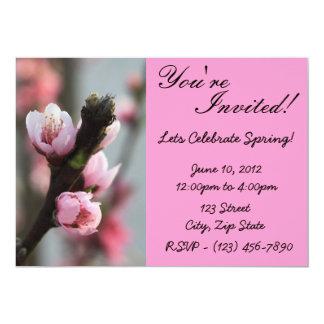 Invitación del brote de flor