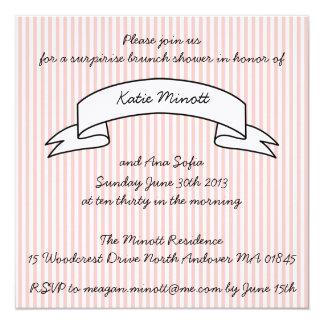 Invitación del brunch de la fiesta de bienvenida
